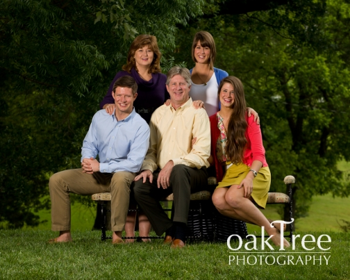 A Family portrait in Claremore,           Oklahoma,      taken by Oak Tree Photography
