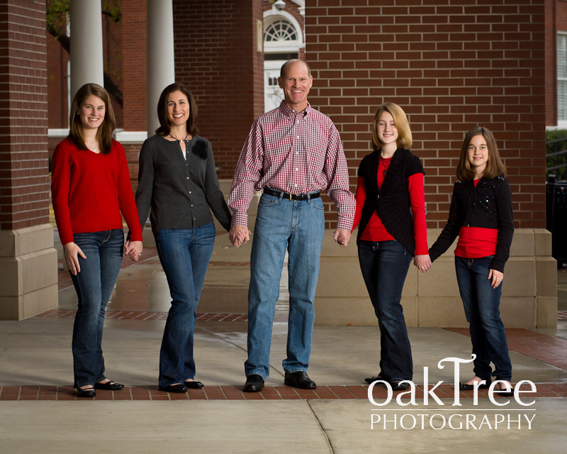 An outdoor family portrait in Claremore,           Oklahoma